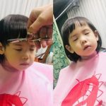 ユジン(S.E.S.)、次女のロリンちゃんが散髪する様子を公開…長女ロヒちゃんと双子コーデのような前髪ぱつんの仕上がりに