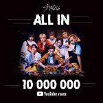 「Stray Kids」、「ALL IN」MVがYouTube1000万回再生を突破!フジテレビ系「Love music」の出演も決定