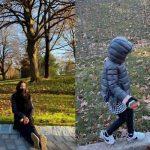 """女優ソン・テヨン、""""嵐のような成長""""娘リホと散歩「にわかに近付く冬」"""