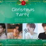 元BOYFRIEND出身 DONGHYUN×HYUNSEONG×JEONGMIN×MINWOO 12月にオンラインでクリスマスパーティを開催! ~僕達と一緒に楽しい思い出を作りましょう!~