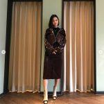 <トレンドブログ>女優ナム・ボラ、秋定番レザー&チェックもエレガントで完璧に着こなし