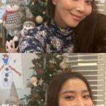 女優オ・ユナ、息子のミニくんとクリスマスツリー作り…「とても遅くなったけれど」