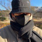 恋人で女優のシン・ミナが撮影?俳優キム・ウビン、バケットハットにマスクからも輝く目元