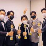 イ・サンユンが「執事部一体」出演者をお祝い…チャ・ウヌ&イ・スンギら「SBS芸能大賞」で賞を受賞