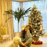 女優パク・ミニョン、クリスマスツリーが飾られたギャラリーのようなリビングで愛犬と一緒にニッコリ☆「ステイホーム」を呼びかけ