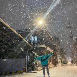 """パク・シネ、雪と戯れる少女のような姿…""""みなさん、滑らないように気を付けてください!!"""""""