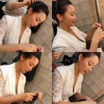 <トレンドブログ>女優キム・ヒソン、さすがな女神美貌…ヘアースタイリングを受けながら編物