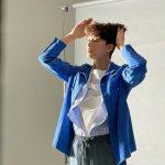 <トレンドブログ>俳優パク・ソジュン、ブルーのジャケットで爽やかさ発散…春に向けてのグラビア撮影中?!