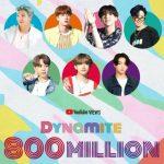 「BTS(防弾少年団)」、「Dynamite」MV再生回数8億回突破…通算6作目