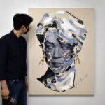 """<span class=""""title"""">BTS(防弾少年団) ジミンは「顔が名品」!ジミンがミューズのイラストアーティスト4月、パリで初展示</span>"""