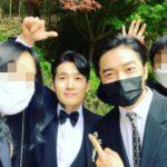 "<span class=""title"">俳優キム・ジェウク、リュ・ドクファンの結婚式を公開「お幸せに」</span>"