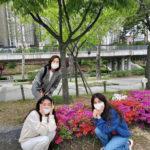 "<span class=""title"">女優チェ・ジウ、シン・エラ、ユン・ユソン、花壇で集まる3人の美人天使</span>"