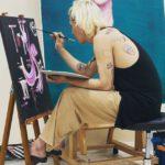 """<span class=""""title"""">「WINNER」MINO、絵を描いている様子を公開…絵筆を持ったアーティスト</span>"""
